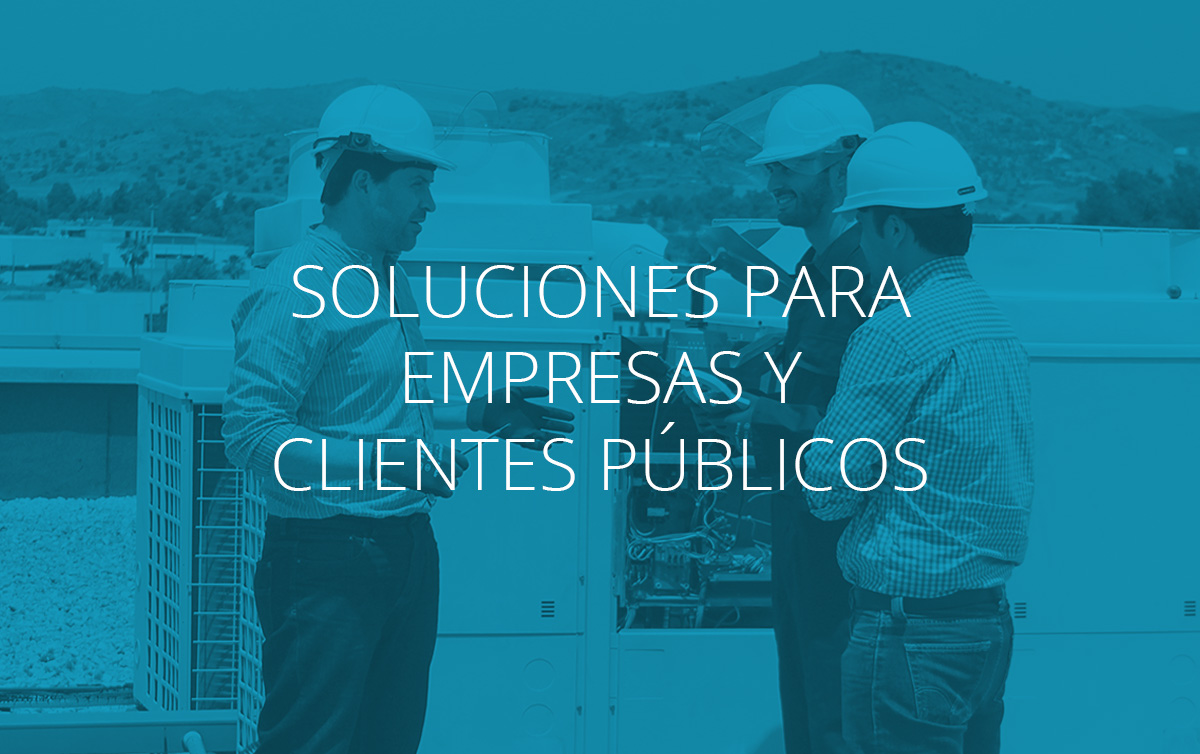 Soluciones de eficiencia energética para empresas y clientes públicos